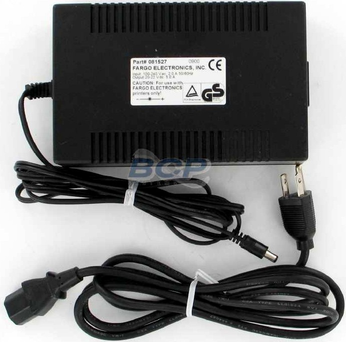 POWER SUPPLY FARGO PRINTER INPUT:100-240Vac,2.0A,50/60Hz. OUTPUT:20-22Vdc,5.0A - REFURBISHED