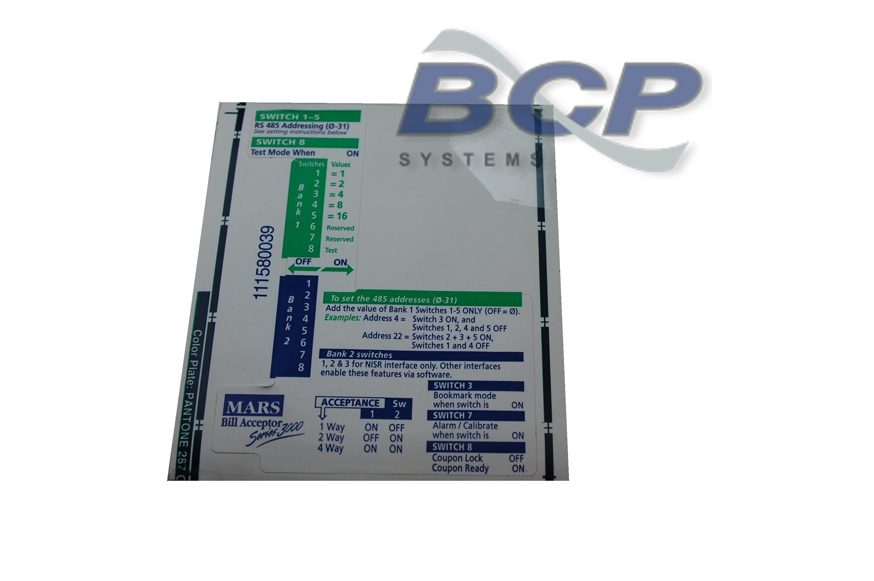 Bcp Systems Specialized Wire Harness Assembly And Repair Services Labels Label Control Cover Rs3000 Series Bill Acceptors Sold In Packs Of 10 Each