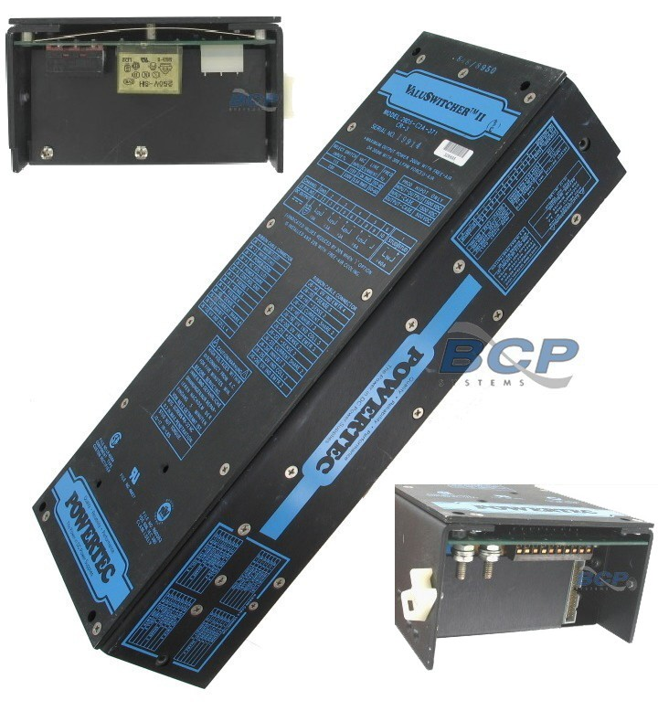 POWER SUPPLY 12V @ 5A, (2) 12V @ 3A, 12V @ 6A, 5V @ 40A Input: 115/230VAC POWERTEC - REFURBISHED