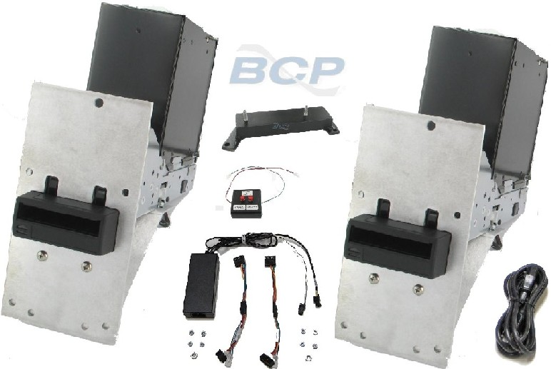 CONVERSION KIT AT SYSTEMS/GARDA AUDITMASTER 620 SAFES. MARS TO CASHCODE DUAL BILL ACCEPTORS 1000-NOTE CASH CASSETTES (without locks) BRACKETS CABLES AND POWER SUPPLY. - NEW (AT-FKS-991-91) (EA)
