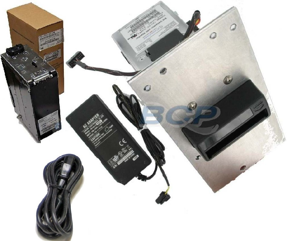 CONVERSION KIT AT SYSTEMS/GARDA AUDITMASTER 605 SAFES. MARS TO CASHCODE SINGLE BILL ACCEPTOR, 1500-NOTES CASH CASSETTE, BRACKETS, CABLES AND POWER SUPPLY. - NEW