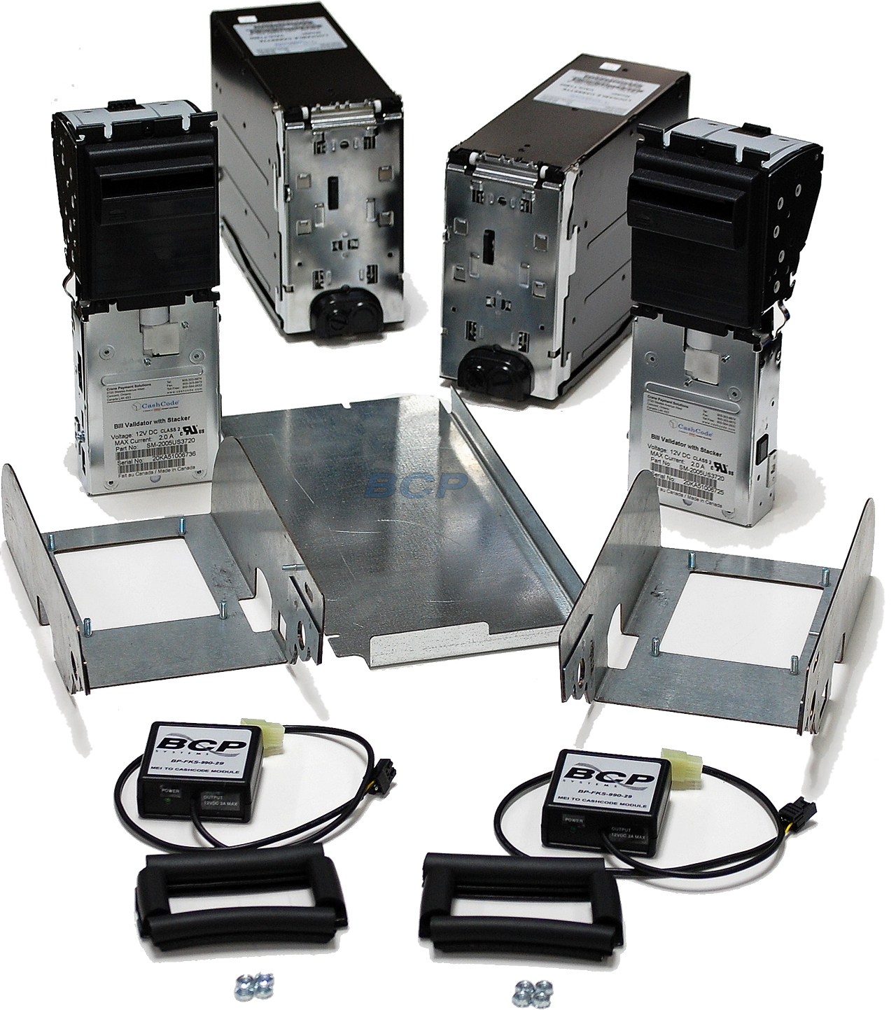 CONVERSION KIT FIREKING NKL V2 SAFES MARS TO CASHCODE DUAL BILL ACCEPTORS CASH CASSETTES (without locks) WITH MEI TO CASHCODE MODULES BRACKETS AND GASKETS FOR SAFES WITHOUT ACCESS TO THE BACK ALL WORK DONE IN FRONT. - NEW (BP-FKS-