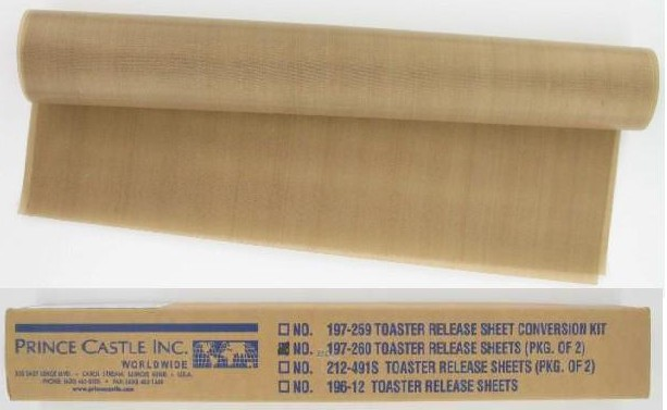 RELEASE SHEETS (PACKAGE OF 2-EACH) FOR PRINCE CASTLE 297 SERIES BUN TOASTER
