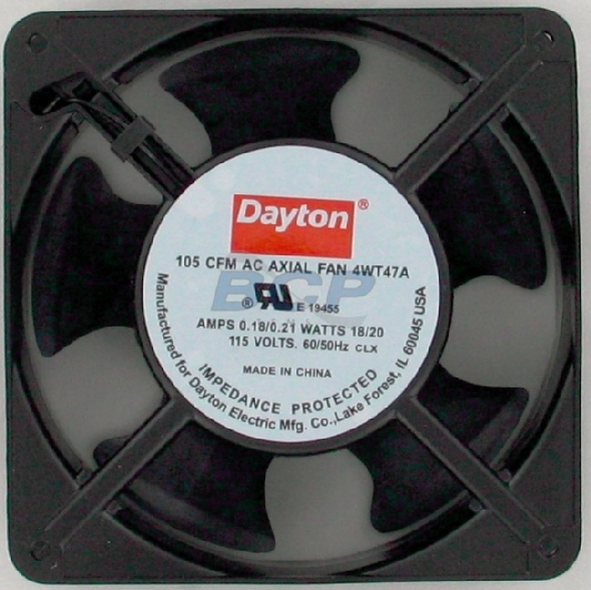 DELUXE FAN MOTOR 115VAC 105CFM 2900RPM 0.18A BEARING SLEVE 48DB CAST ALUMINUM 158 DEGREES FARENHEIT MAX TEMP 4-1/8 X 1-1/2 X 4-11/16