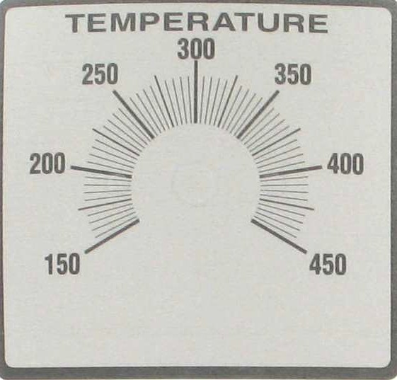 DELUXE THERMOSTAT LABEL 450 DEGREE TEMPERATURE LABEL (OVERLAY)