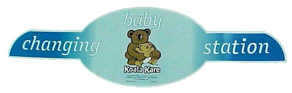 DECAL FOLDING DOOR OVAL BABY CHANGING STATION KOALA KARE MODEL KB-108
